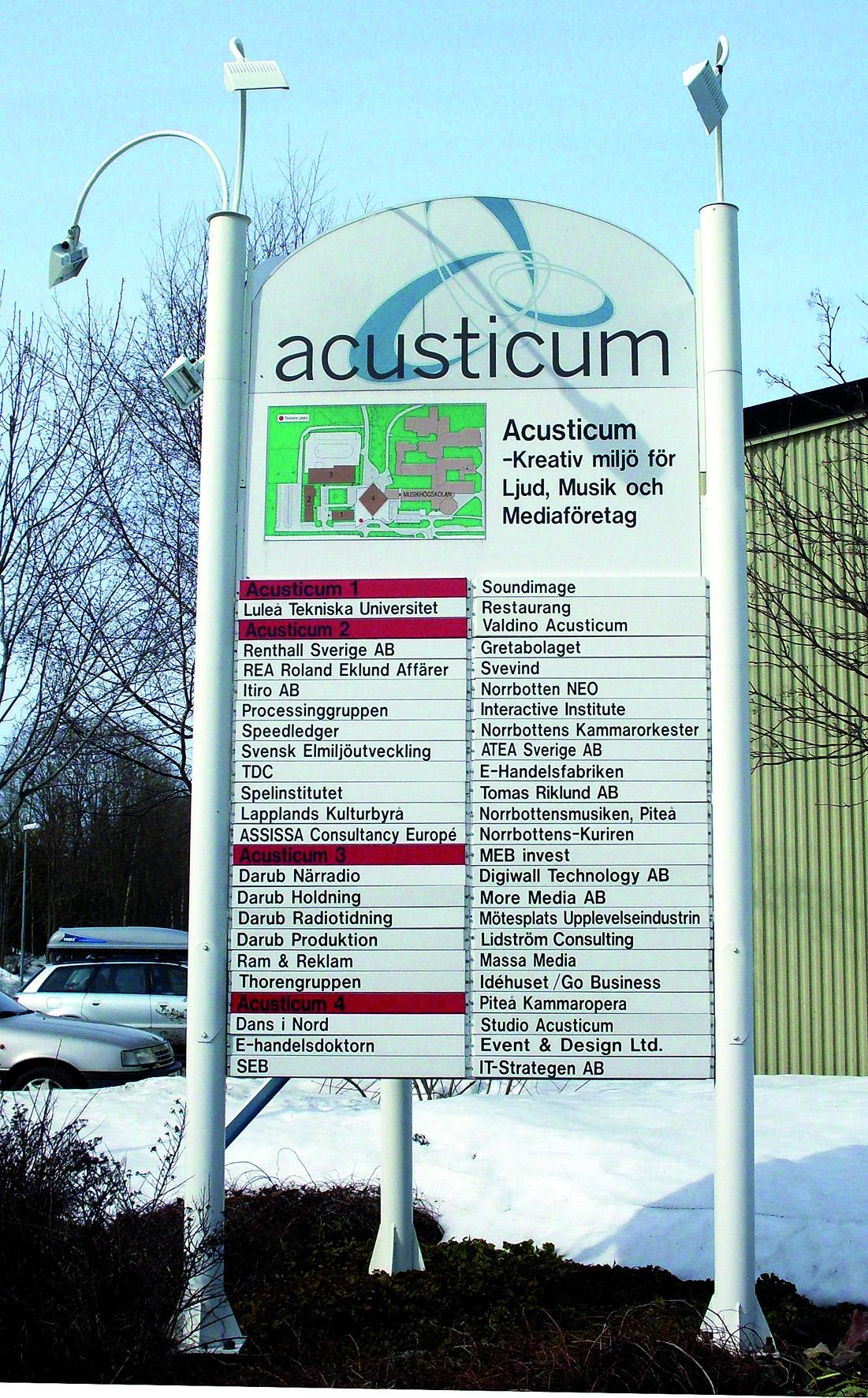 Skyltsystem Acusticum